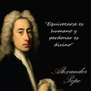 frases de Alexander Pope - Errar2