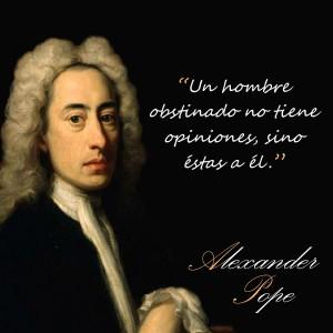 frases de Alexander Pope - Obsinado