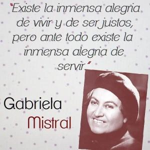frases de Gabriela Mistral - hermosas