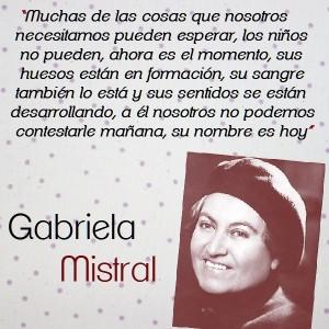 frases de Gabriela Mistral - larga frase