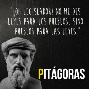 frases de pitagoras - imagen con reflexion