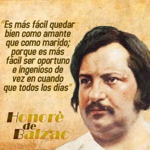 frases de Honorè DeBalzac - Amantes