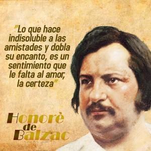frases de Honorè DeBalzac - Amistad