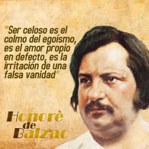 frases de Honorè DeBalzac - Celos