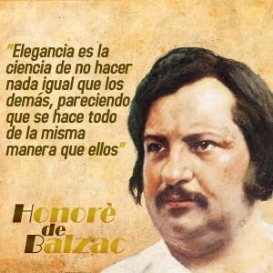 frases de Honorè DeBalzac -  Elegancia
