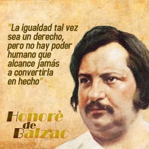 frases de Honorè DeBalzac - Igualdad