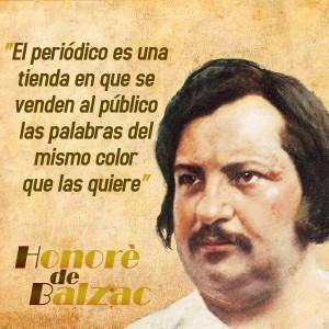 frases de Honorè DeBalzac - Prensa