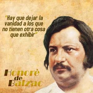 frases de Honorè DeBalzac - Vanidad