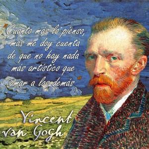 frases de VanGogh - Amar
