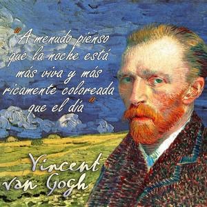 frases de VanGogh - Noche