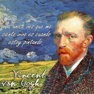 frases de VanGogh - Pintando